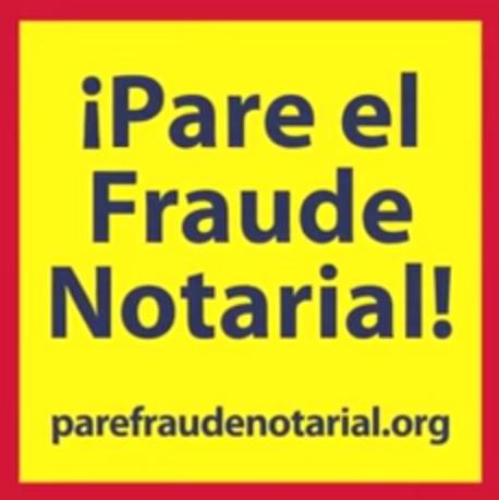Pare el Fraude Notarial